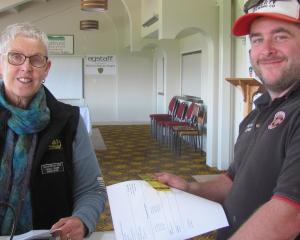 Amateur brewer Todd Grieve signs up for the brewing competition at the Ashburton A&P Show...