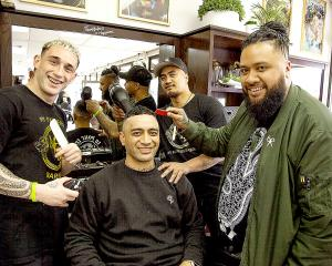 My Fathers Barbers - Doug Lockley, David Nioulinifotu-Moala, Tahere Ngaheu and Matt Brown. 