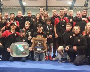 The Canterbury boxing team show off their medals and silverware after a successful nationals....