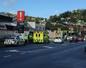 Emergency services at the scene of a crash in Caversham. Photo: Gregor Richardson