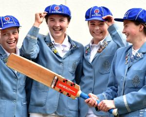 St Hilda's Collegiate and Otago Sparks foursome (from left) Eden Carson (18), Emma Black (18),...