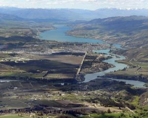 Cromwell and Bannockburn  with Lake Dunstan  in the background last summer. Council and social...