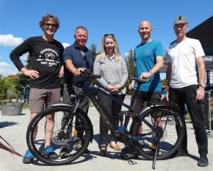 Moustache e-bike importer Campbell Read, of Queenstown, Stew Burt and Christina Perriam of the...