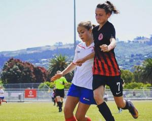 Lincoln High School footballer, Zoe McMeeken, right, is one of five Cantabrians to make the New...