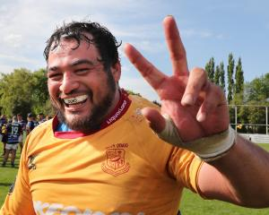North Otago captain Ralph Darling celebrates after his side's win over Wanganui in the Meads Cup...