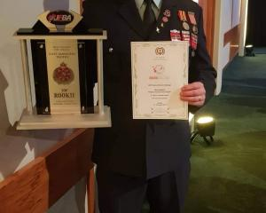 Rangiora Volunteer Fire Brigade member Chris Andrew was thrilled to win the award for top rookie...