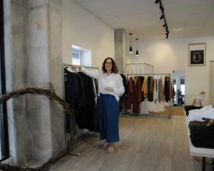 Eighty-five percent of the clothes that Swannanoa's Juliet Henry designs for her fashion boutique...
