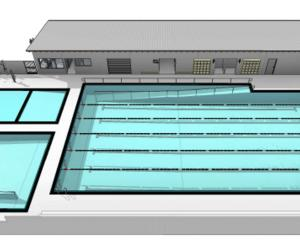 An artist's impression of Kaikoura's new pool complex.Pool funding now stands at $2.2m, with the...