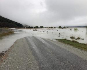 Kinloch Rd has been closed due to surface flooding. Photo: QLDC
