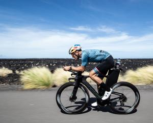 Wanaka ironman athlete Braden Currie training in Kona, in Hawaii, this week. PHOTO: KORUPT VISION