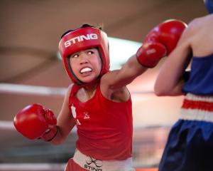 Canterbury's Kwahi Beauchamp in action in the cadet 36kg category at the national amateur boxing...