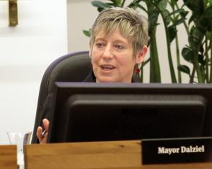 Lianne Dalziel in council chambers. Photo: Geoff Sloan