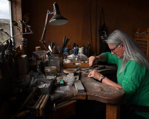 Working at her father's jewellery bench is special for Stephanie Lorimer. Photos: Craig Baxter