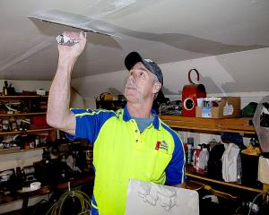 Mike Dorreen had been working as a plasterer for 25 years. PHOTO: GEOFF SLOAN