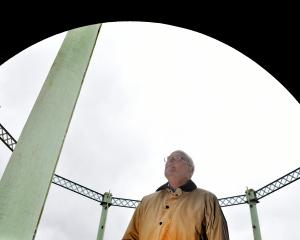 Industrial heritage advocate Sir Neil Cossons at the Dunedin Gasworks Museum yesterday. Photo:...