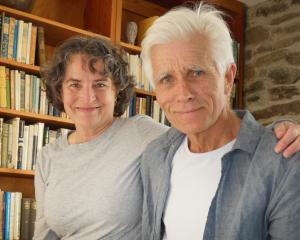 Henderson House artists-in-residence Kate De Goldi, and Bruce Foster, of Wellington. Photo: Simon...