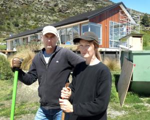 Disgruntled Queenstown home owners Tony and Rachel Windner outside their Kelvin Heights property,...