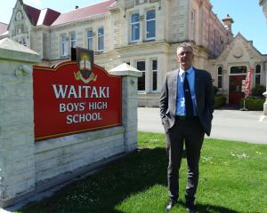 New Waitaki Boys' High School deputy rector Roger van Booma at the school 