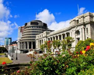 The man has been working away from Parliament's precinct for the past five weeks. Photo: Getty...