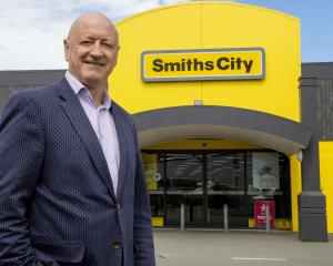 Smiths City CEO Roy Campbell stands outside the Colombo St store.