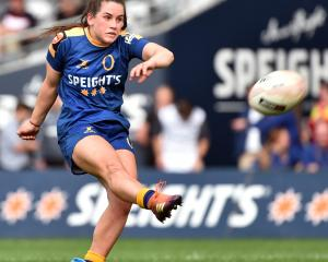 The kicking of Otago's Rosie Kelly made all the difference for the Spirit in today's final. Photo...