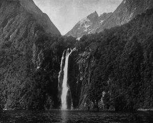 Stirling Falls (150 metres) on the Kimberley Range, Milford Sound. - Otago Witness, 28.10.1919.