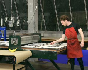 Paul McLachlan of Wanaka in a print studio. Photos: Supplied