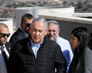 "Israeli Prime Minister Benjamin Netanyahu (left) says the Trump administration has corrected ""a..."