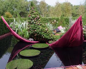 Garden designer Ben Hoyle coloured the water to black to enhance the reflections in his 2012...