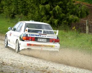 Gore's Andrew Graves on his way to winning last year's Lawrence Rally, which takes place again...