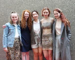 Christchurch Girls' High friends (from left) Connie Fitzgerlad, Anna Champion, Louise Kim, Freya...