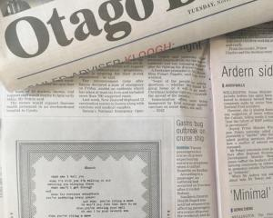 Lyrics from songs on Coldplay's upcoming album were printed exclusively in the Otago Daily Times...
