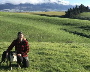 Yarding dog trialist Skyla Taylor and heading dog, Dag, share a special bond. Photo: Toni Williams