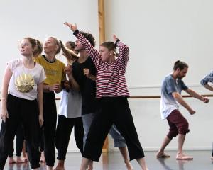 Olivia O'Brien (fifth from left) has been chosen to create her own dance work at The Arts Centre.