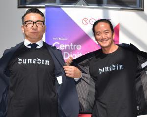 JP Games' creative director Hiromitsu Sasaki (left) and global account manager Ken Kawashima...