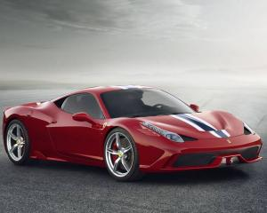The Ferrari 458 Speciale, one of four supercars garaged in Switzerland and registered in Hamish...