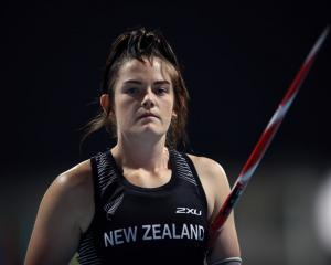 Holly Robinson, of Dunedin, looks on during the women's javelin throw F46 on at the IPC World...