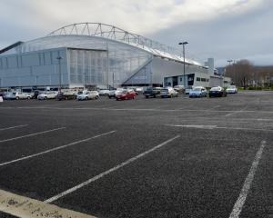 The car park at Forsyth Barr Stadium. PHOTO: GERARD O'BRIEN