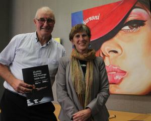 Arts Murihiku chairman Paul Duffy with convener Mary-Jane Rivers during launch of the Regional...