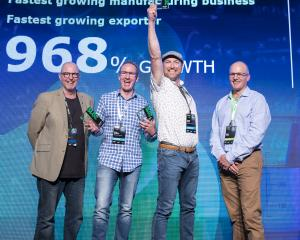 Celebrating business success at the Festival of Growth in Auckland are (from left) BNZ head of...