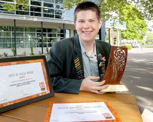 Middleton grange pupil Izaac Wilson received two awards for his work with World Vision, next year...