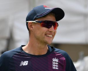 England's Joe Root during nets ahead of today's test match. Photo: Reuters