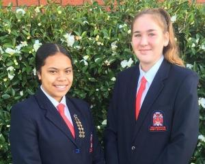 Hillmorton's Lynnette Sakaria, left and Kate Rich have made the New Zealand under-19 korfball...