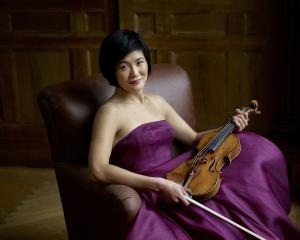 Violinist Jennifer Koh plays the Dunedin Town Hall on Friday. Photo: Jurgen Frank