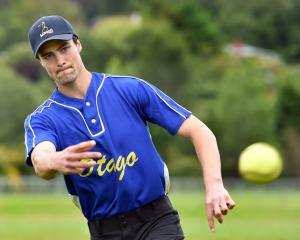 Mitchell Finnie pitches at Ellis Park this week as he prepares to play for Otago at the Jefferies...