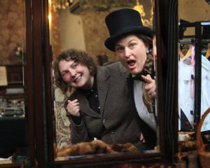 Victorian Fete co-ordinator Frances McMillan (left) and stall-holder co-ordinator Alice Hore gear...