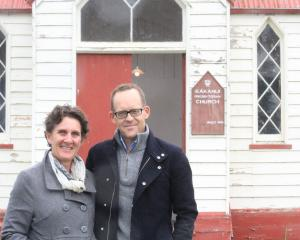 Waimate's Anna Miles, and her husband, Michael Simpson, who bought the Kakanui Presbyterian...