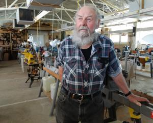 Waitaki Woodturners' Guild president Averill Jamison at the guild's workshop at Oamaru Racecourse...