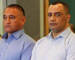 Police officers Sergeant Vaughan Perry (left) and Inspector Hurimoana Dennis appeared at the High...