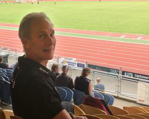 Athletics NZ chief executive Peter Pfitzinger at the Caledonian Ground on Saturday. PHOTO: STEVE...